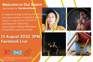 Welcome To Our Space Webinar: Disabled* Dance Artists Talk