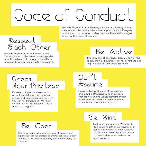 Eastside Projects Code of Conduct