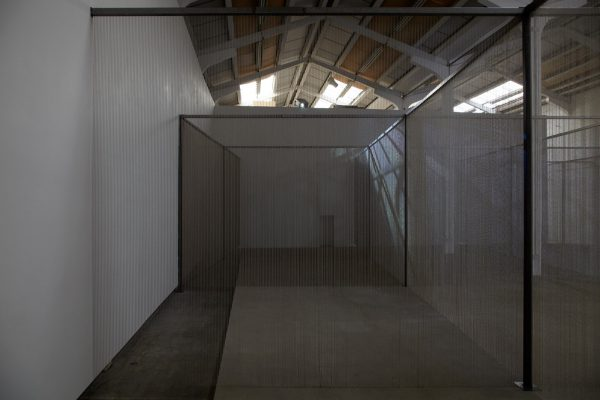 Mike Nelson, Altered gallery with shot blasted concrete plinth (originally part of Mike Nelson: M6)