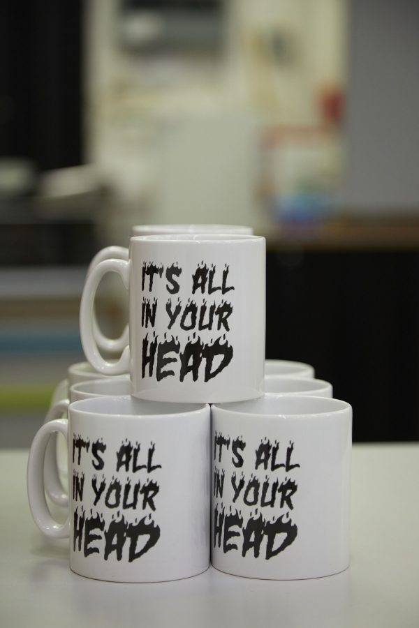 Lindsey Mendick, It's All In Your Head Mug, 2020 (Unlimited Edition)
