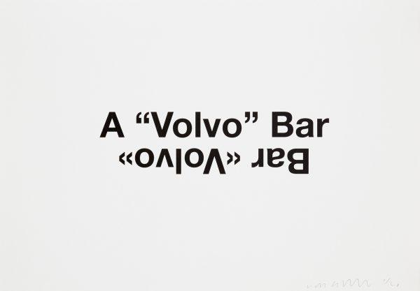 "Liam Gillick, A ""Volvo"" Bar"