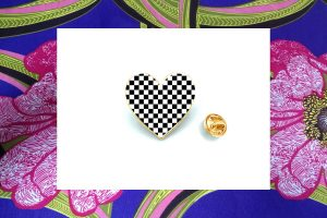 Two Tone Heart Badge