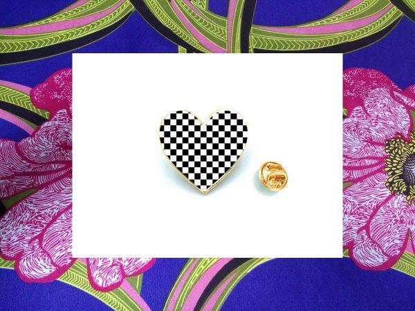Two Tone Heart Badge