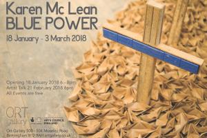 Blue Power Exhibition by Karen Mc Lean